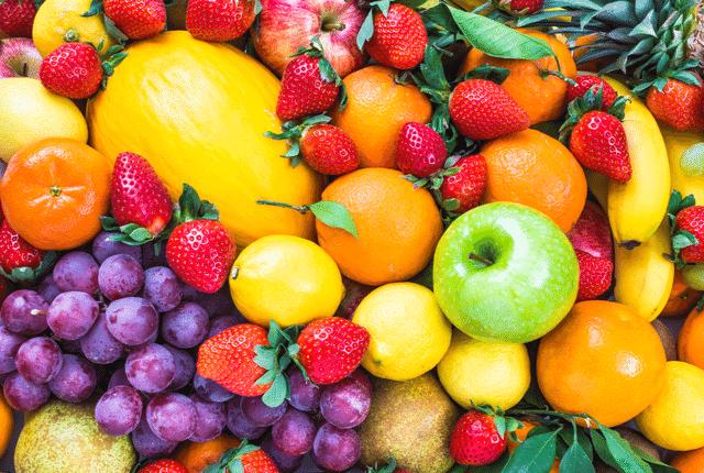 פירות עם סוכר, פירות בצבעים שונים