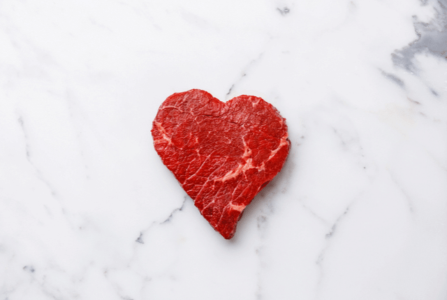 בשר אדום, לב