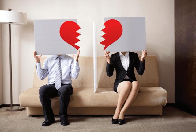 לב שבור, פירוק הזוגיות