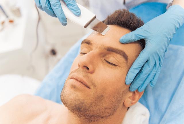 אסטטיקת הפנים, טיפול פנים לגבר